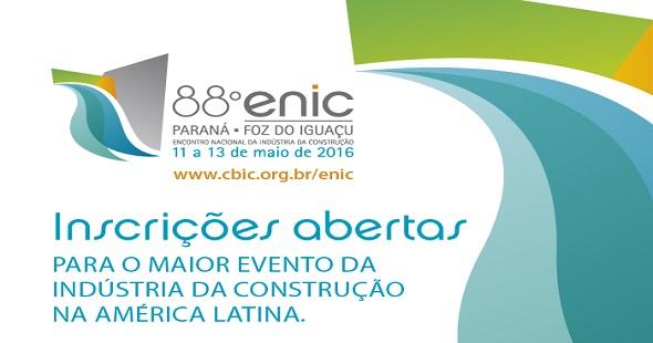As inscrições podem ser feitas pelo site: www.cbic.org.br/enic