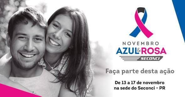 Sinduscon e Seconci Paraná promovem campanha Novembro Azul e Rosa