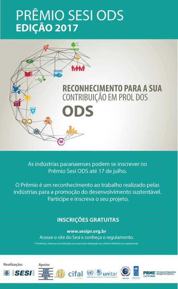 Sesi lança o Prêmio Sesi ODS 2017