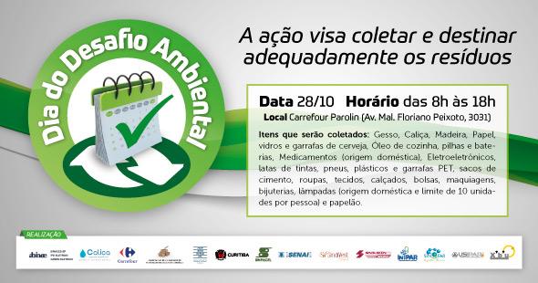 Dia do Desafio ,separe os resíduos e contribua com Meio Ambiente