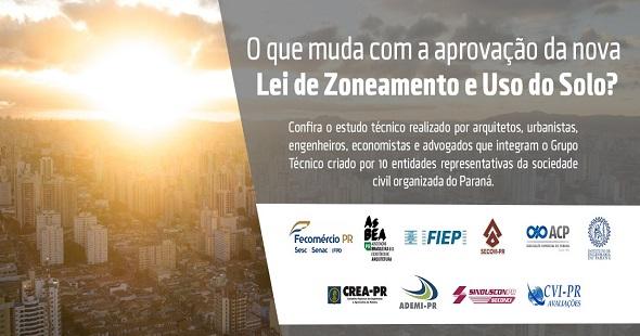 Dez entidades unem-se para analisar os impactos  da nova Lei de Zoneamento e Uso do Solo de Curitiba