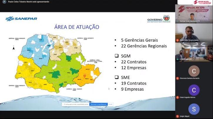 [Invest Sanepar] Obras de manutenção de redes de água e esgoto no Paraná