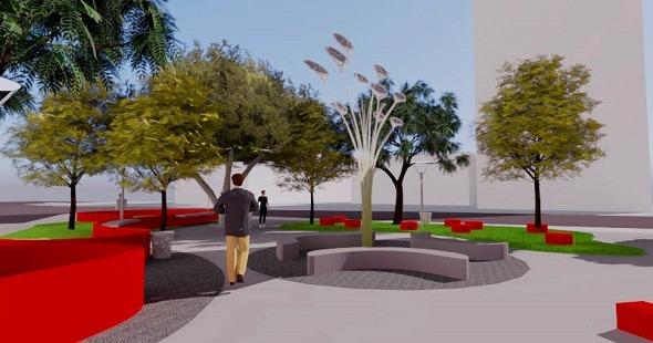 Largo José Knopfholz ganha projeto moderno e sustentável