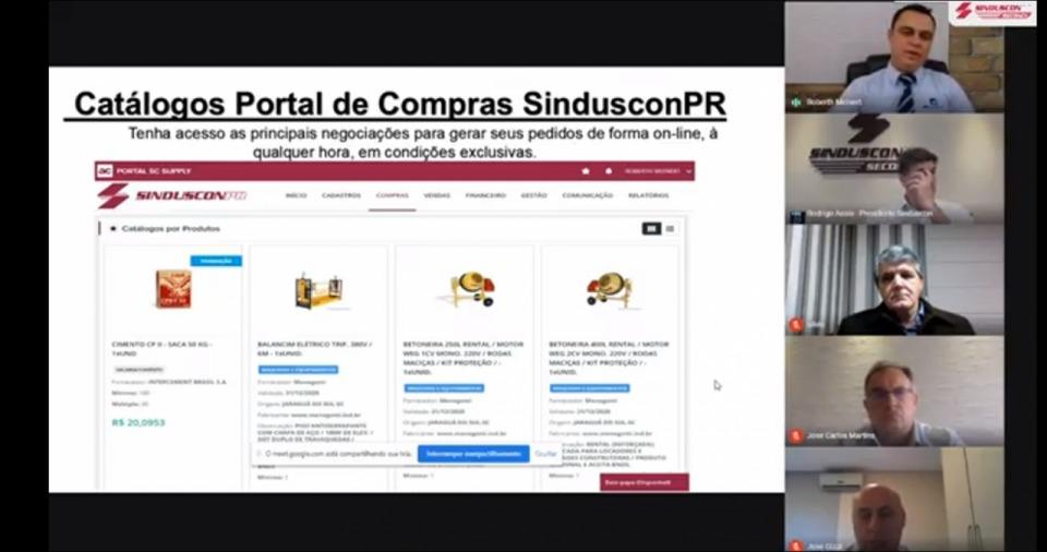 Lançamento Portal de Compras Sinduscon Paraná